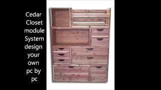 Cedar Closet System, Cedar Outdoor Furniture