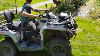 ATV Falls on Man While he Tries to Climb up Slope - 1000994