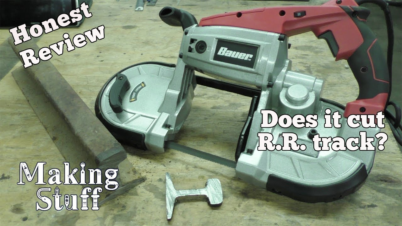 Harbor Freight Portable Bandsaw Review - Does it cut railroad track?