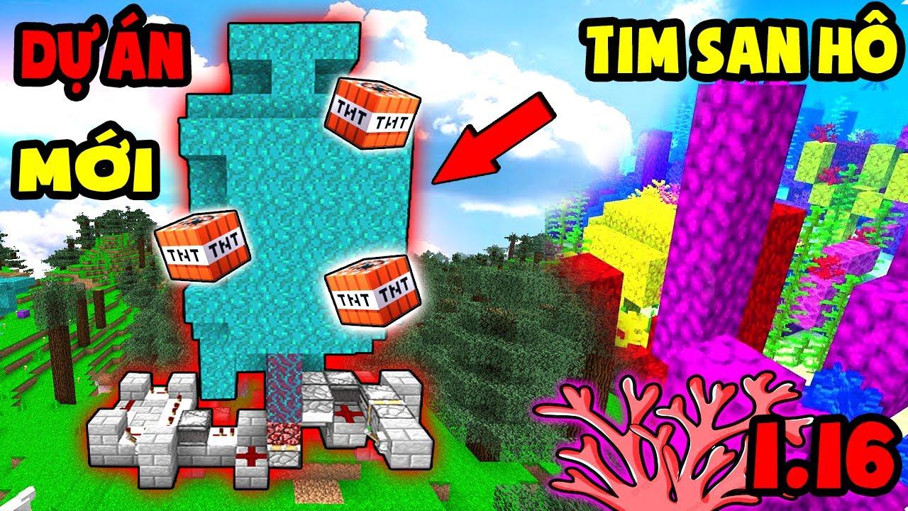 TÝ TIỀN TỈ - TÌM SAN HÔ CHO DỰ ÁN MỚI - FARM GỖ NẤM - Minecraft Sinh Tồn 1.16 #33