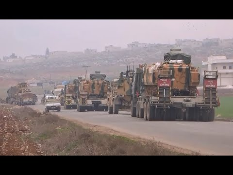 Turkish military convoy finaly arrives to south Aleppo | February 5th 2018