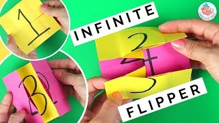 Infinite Flipper - How to Fold an Endless Flipping Card - Paper Toys Tutorial