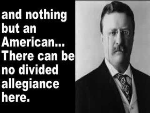 President Roosevelt speaks about being an American