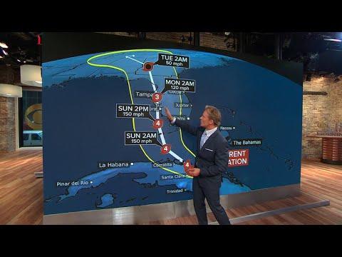 Tracking Hurricane Irma's path
