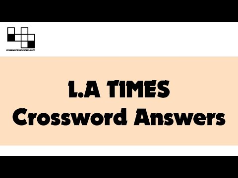 L A Times Puzzle Solution For Sunday December 6 2020 2020 12 06 Youtube