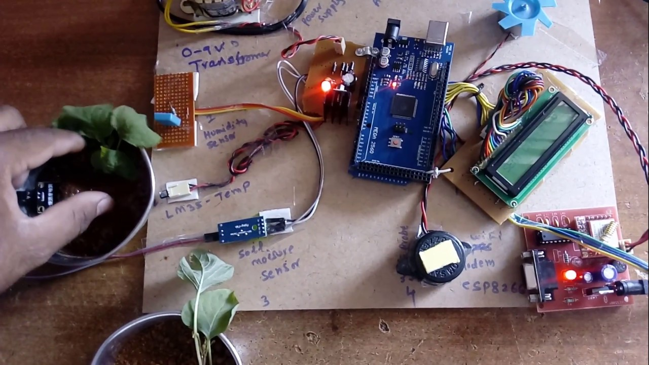 Iot Based Smart Agriculture Monitoring System Youtube
