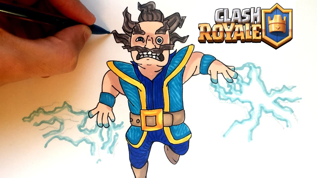 DRAW ELECTRO WIZARD CLASH ROYALE