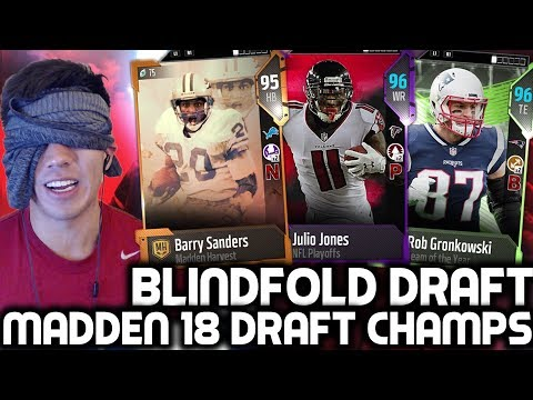 BLINDFOLD DRAFT! 2 DRAFT N' PLAYS! Madden 18 Draft Champions