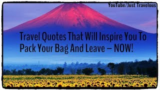 My Favorite Short And Unique Travel Quotes And Sayings ; Collection Part - 1