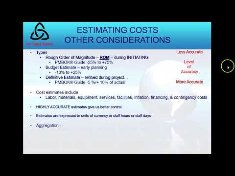 Week 5 Lecture 9 Estimate Costs Determine Budget and Control