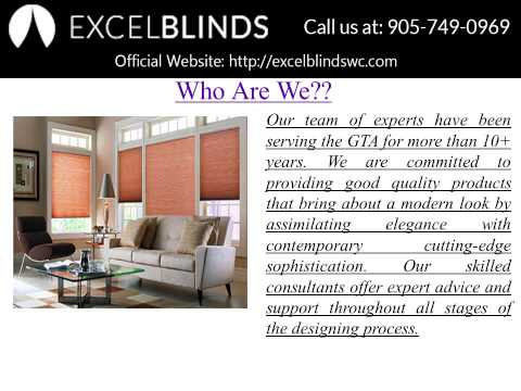 Best Window's Treatment Services – Excel Blinds