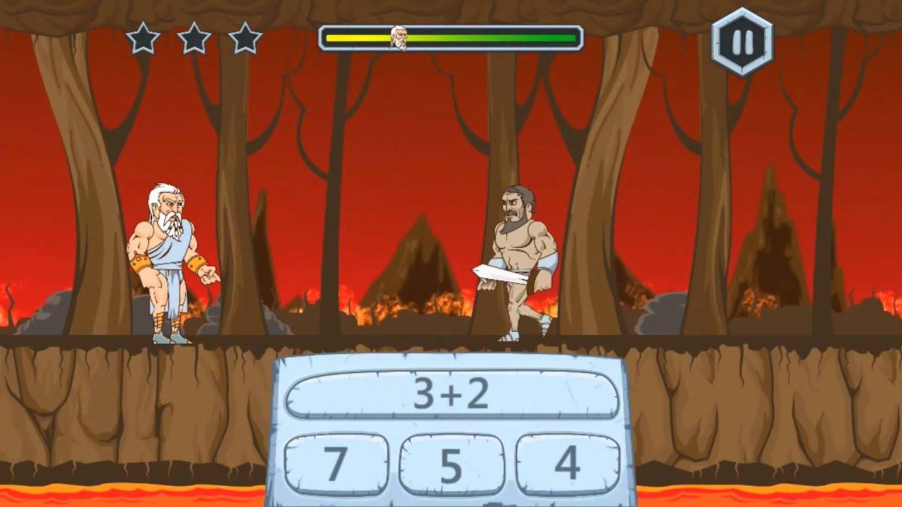 Zeus vs. Monsters - Math Game - YouTube