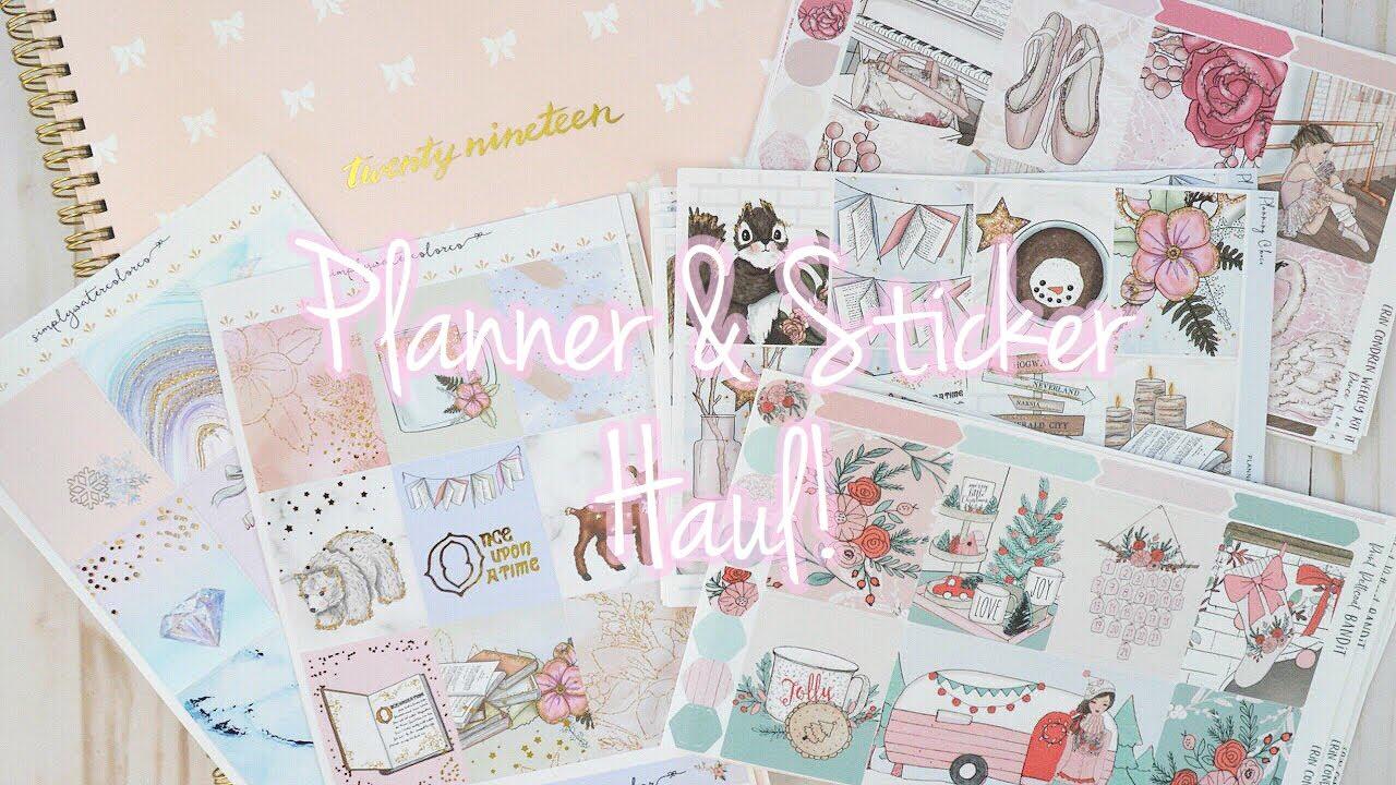 Planner & Sticker Haul! | SgChirich Studyblr