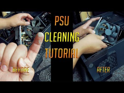 ✔ Tutorial how to cleaning PSU dust - PC Power Supply Unit