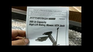 Harbor Freight Pittsburgh ATV/Lawn Mower Lift - Assembly