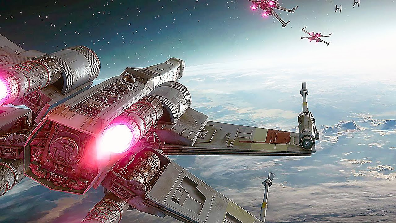 Star Wars Battlefront 2 - Space Battle Gameplay ...