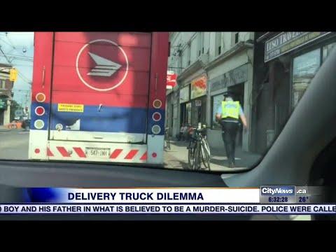 Delivery trucks still parking in bike lanes