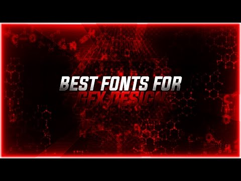 BEST FREE FONTS FOR GFX DESIGN