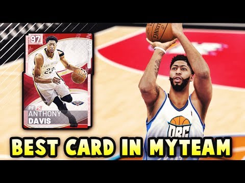 NBA 2K19 PINK DIAMOND ANTHONY DAVIS IS INCREDIBLE!! THE BEST CARD IN NBA 2K19 MyTEAM GAMEPLAY