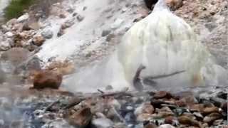 高瀬渓谷 湯俣温泉の噴湯丘