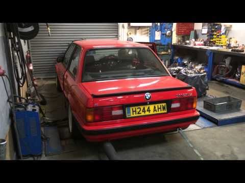 BMW e30 318is M42 Dyno Run 290 275 Cat Cams, Dblias itb