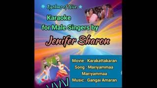 Mariyamma Mariyamma Karaoke For Male Singers By Jenifer Sharon