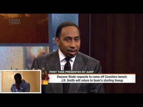 Stephen A. Smith reacts to Dwyane Wade asking to come off the bench for Cavaliers | ESPN First Take