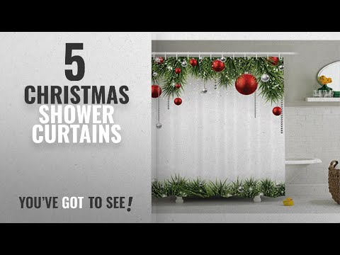 Top 10 Christmas Shower Curtains [2018]: Christmas Shower Curtain Fabric Decorations by Ambesonne,