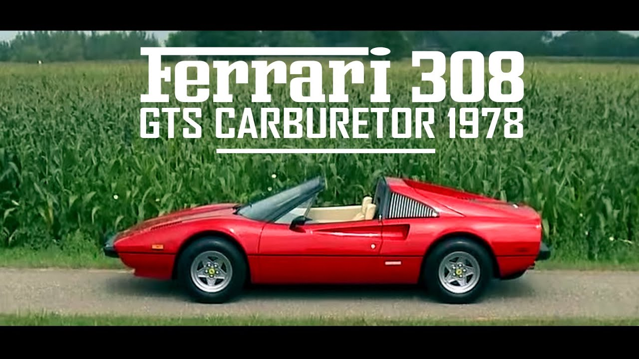 FERRARI 308 GTS Carburetor 1978  Full test drive in top gear  V8