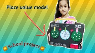 Place value working model TLM| Expended form| TLM| Project| Maths project|School project