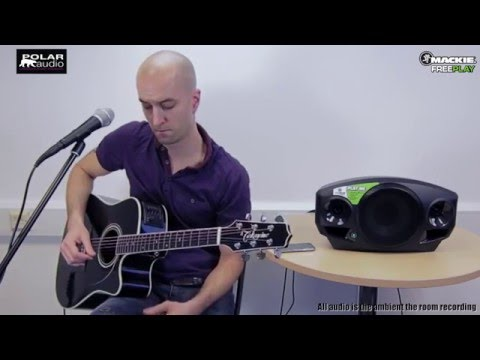 Mackie Freeplay portable PA system demo with acoustic guitar and vocals