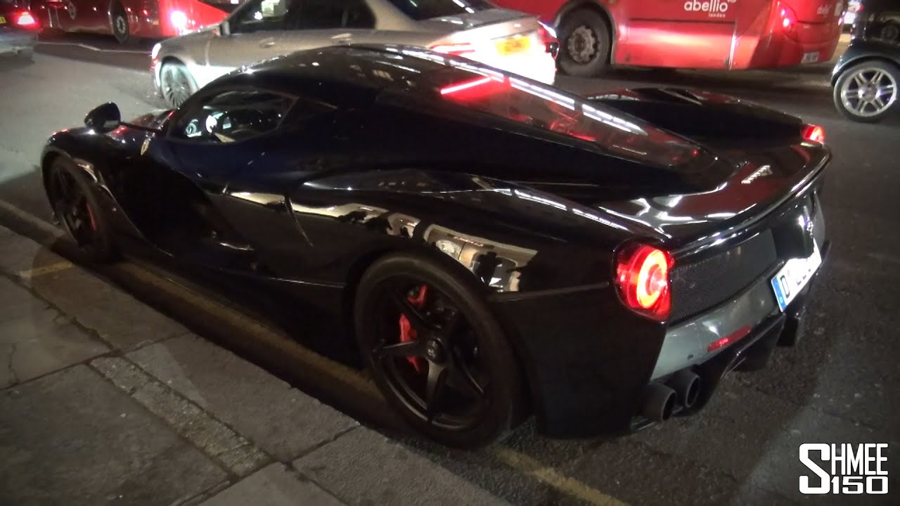Black Ferrari LaFerrari Spotted in London   YouTube