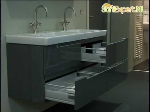 villeroy boch subway 2 0 wastafelonderkast met 4 laden youtube. Black Bedroom Furniture Sets. Home Design Ideas