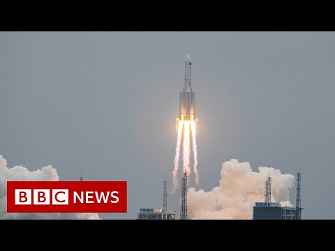 Chinese rocket to come crashing down to Earth at unknown location - BBC News