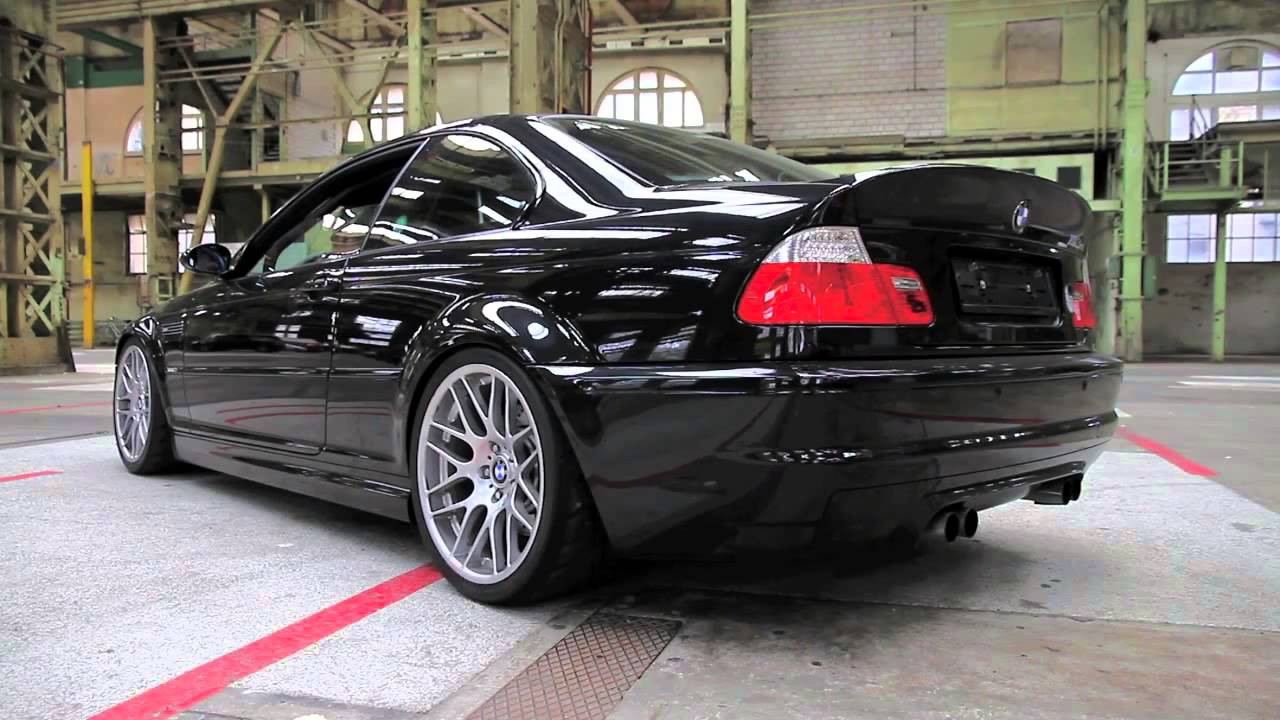 bmw e46 m3 csl with custom made exhaust youtube. Black Bedroom Furniture Sets. Home Design Ideas