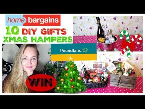 HOME BARGAINS & POUNDLAND / DIY CHRISTMAS HAMPER / FOOD GIFT IDEAS/ GIVEAWAY HAUL
