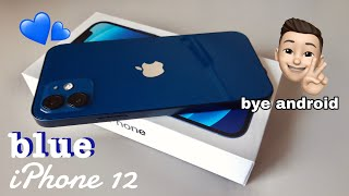 iPhone 12📱Blue 💙 Unboxing + accessories