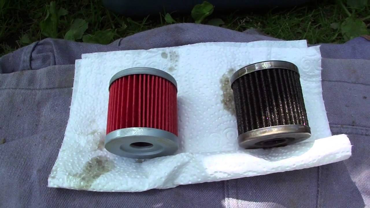 Replacement of oil filter quad | Wymiana filtra oleju w quadzie ...