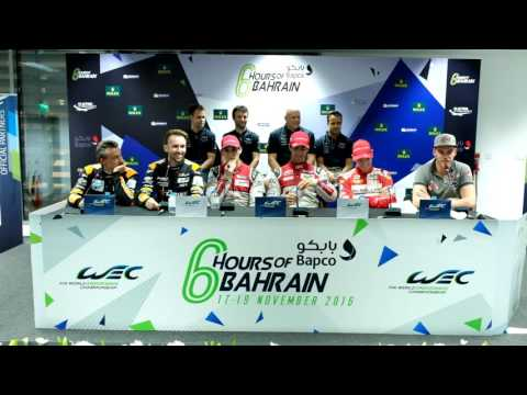 WEC - 2016 6 hours of Bahrain - Post qualifying press conference