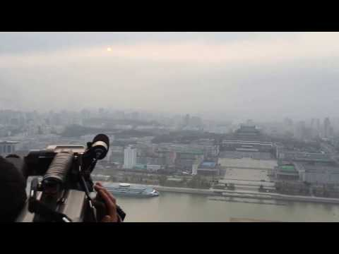 360 degree view of Pyongyang, North Korea, from atop the Juche Tower