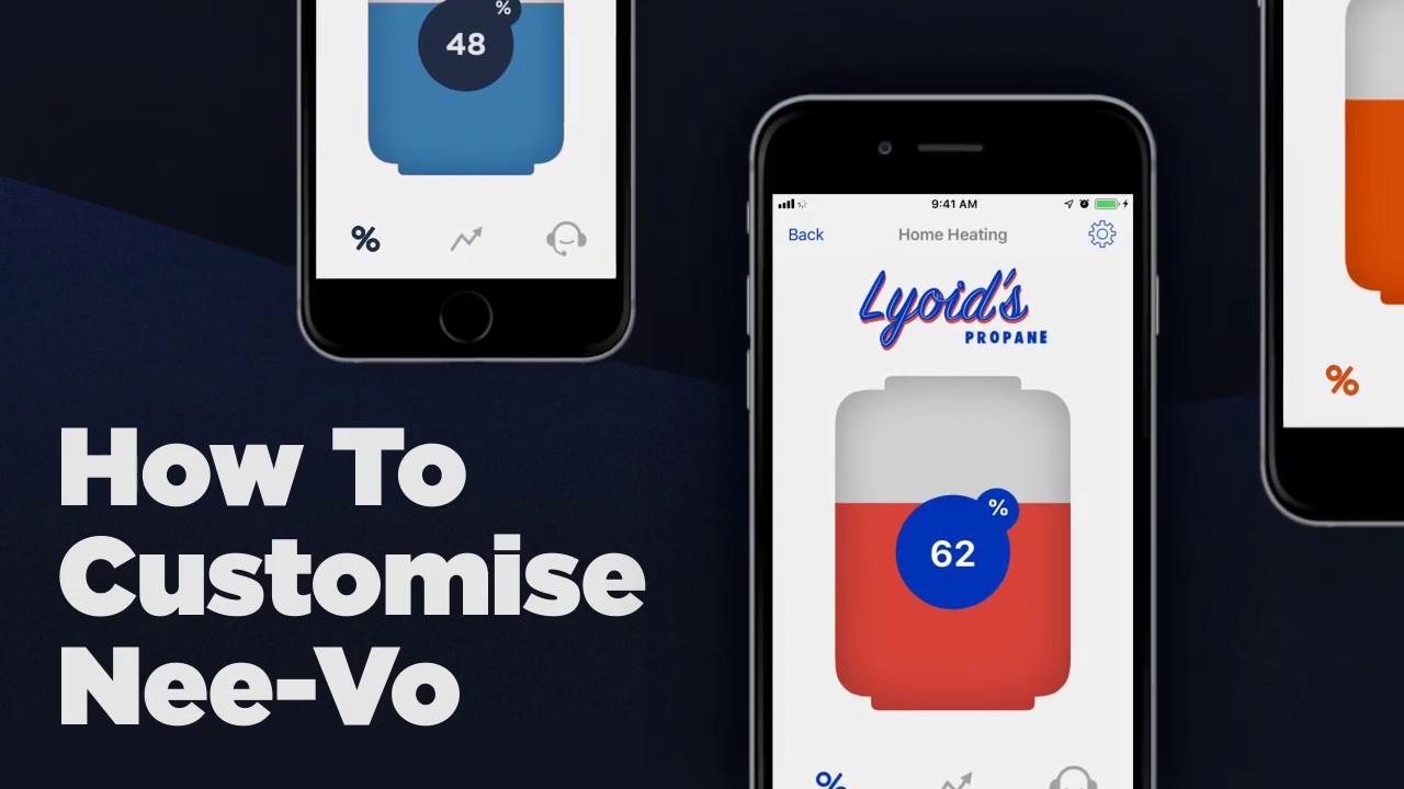 The Nee-Vo App | How to Customize | otodatatankmonitors.com