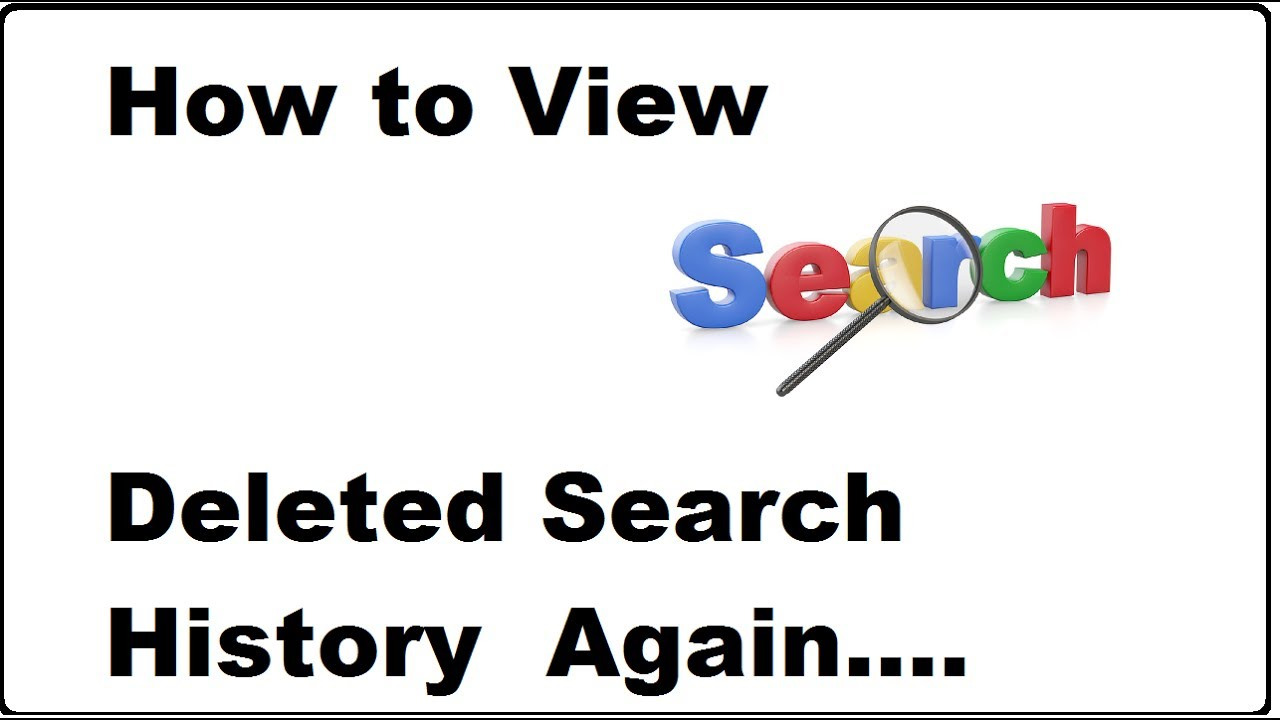 How to view deleted search history again