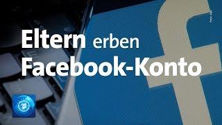 Urteil: Facebook-Konto kann vererbt werden