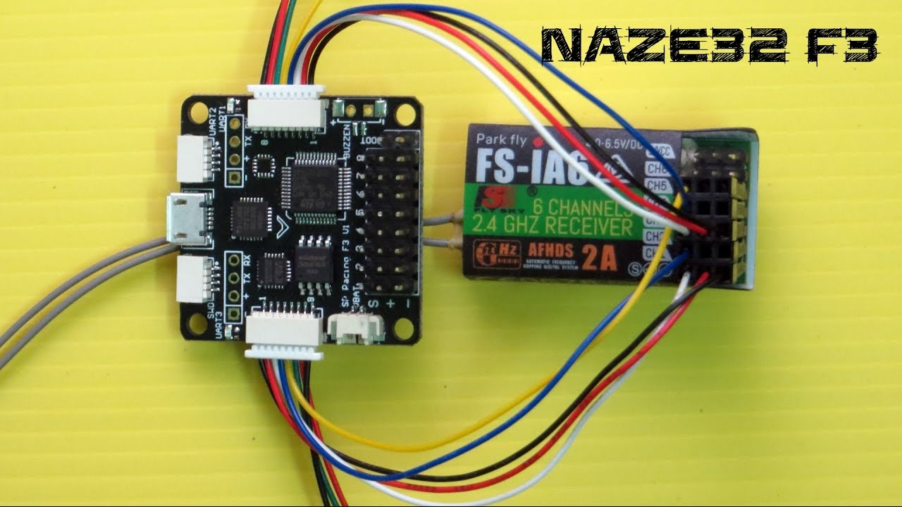 maxresdefault how to connect naze32 f3 with any 6 channel receiver youtube fs ia6b wiring diagram at readyjetset.co