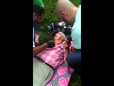 Rescatando a Luis Posadas carriles de un accidente que tuvo