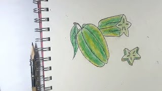 how to draw Star Fruit | Kim Ngan Kids