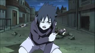 Itachi Crying as Sasuke's Kunai hits Itachi's Headband