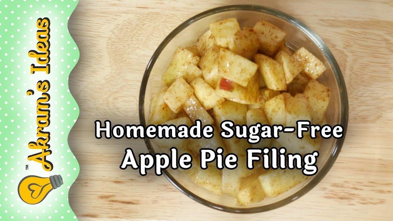 Homemade Sugar Free Apple Pie Filling   Akram's Ideas Ep. 20 206