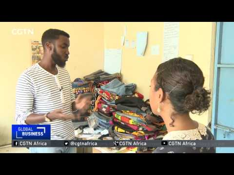 Kenyan entrepreneur upcycles old clothes into functional bags thumbnail