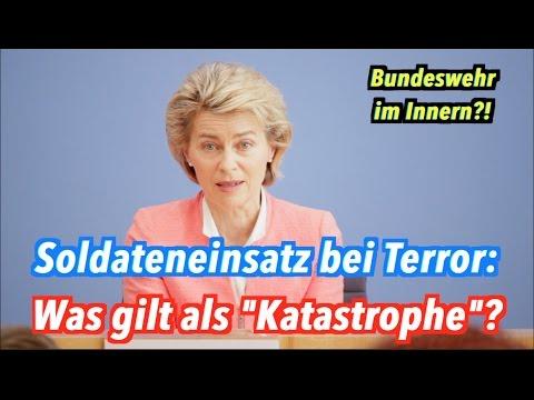 """Bundeswehr gegen Terror in Deutschland: Was soll als """"Katastrophe"""" gelten?"""